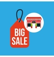 cute store shopping big sale vector image vector image