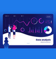data analysis landing big digital center vector image