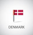denmark flag pin vector image vector image