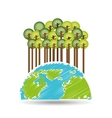 earth save tree symbol icon vector image vector image