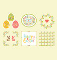 easter set of design elements in pastel colors vector image vector image
