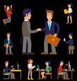 eight of cartoon character vector image