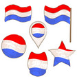 flag of luxembourg performed in defferent shapes vector image vector image