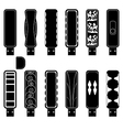flash drives silhouette set vector image