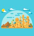 Flat design arab mud village vector image vector image
