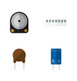 flat icon technology set of hdd transistor vector image vector image
