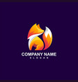 fox logo design vector image vector image