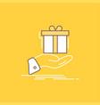 gift surprise solution idea birthday flat line vector image