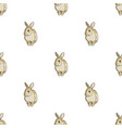 gray rabbitanimals single icon in cartoon style vector image vector image
