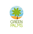 green palms symbol vector image vector image
