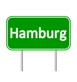 Hamburg road sign vector image vector image