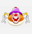 happy clown eps 10 vector image vector image