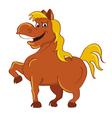 horse happy vector image vector image