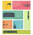 infographic of interior home furniture icons vector image vector image