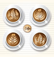 latte art coffee vector image