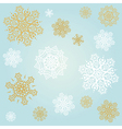 light blue background with snowflakes vector image vector image