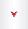 logo red symbol letter v vector image