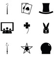 magic icon set vector image vector image