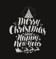Merry christmas and happy new year vintage