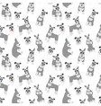 miniature schnauzer seamless pattern vector image vector image