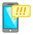 Mobile phone icon cartoon style vector image vector image