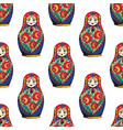 nesting doll the traditional symbol of russia vector image vector image