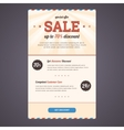 Newsletter template design with discount offer vector image vector image