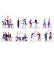 office workers team business meeting vector image