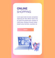 online shopping website element template vector image vector image