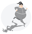 Overweight girl exercise vector image vector image