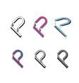p logo monogram vector image vector image