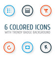 picture icons set collection of lightning frame vector image