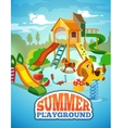 poster of children playground vector image vector image