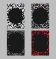 random dot background round brochure border vector image vector image