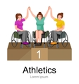 rio 2016 brazilian game for handicapped vector image