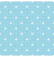 Seamless blue background with lines and polka dots vector image