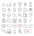 Set of linear web design icons Modern line icons vector image vector image