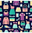 Shopping seamless pattern vector image