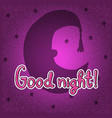 silhouette of half moon in night hat good night vector image vector image
