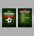 soccer football champions final scoreboard table vector image