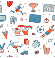 soccer football player game match fans outline vector image vector image