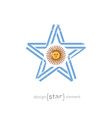 star with Argentina flag colors symbols and grunge vector image vector image