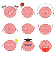 strong healthy sports and smart brain vector image vector image