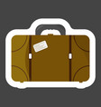 suitcase icon colored sticker layers grouped for vector image vector image