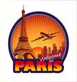 Travel Paris vector image