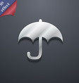 Umbrella icon symbol 3D style Trendy modern design vector image vector image