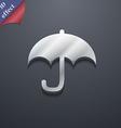 Umbrella icon symbol 3D style Trendy modern design vector image vector image
