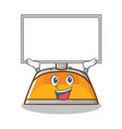 up board dustpan character cartoon style vector image vector image