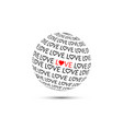 valentines day background with love inscription vector image