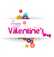Valentines day with flower vector image vector image